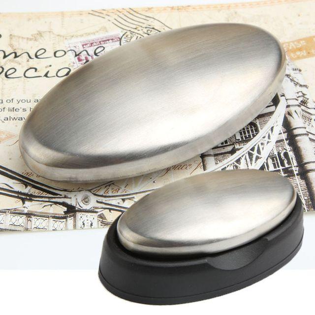 Productos para el hogar New Hot Oval Jabón de acero inoxidable que elimina la cocina Baño Aseo Olor Olor Unlap HG-1025