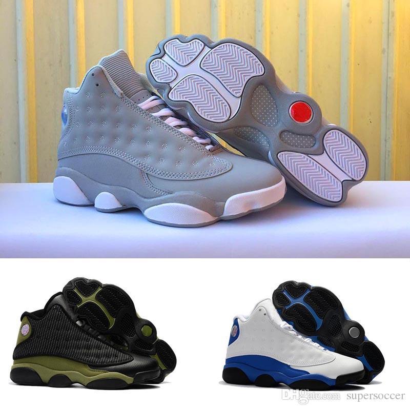 Top Quality Atacado Sapatos novos 13 homens de basquete 13 esportes tênis formadores homens Tamanho 8-13