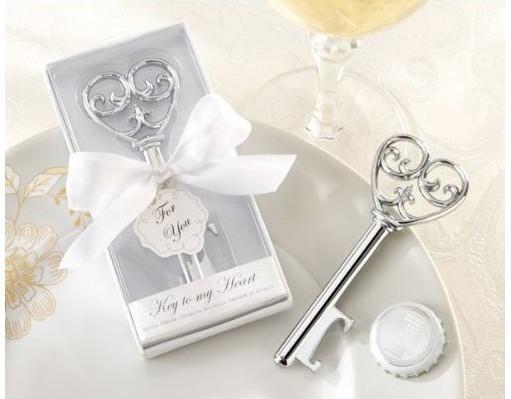 Chiave da 100 pezzi / lotto per il mio apriscatole del cuore Favori di nozze e regali Forniture del partito Spedizione gratuita