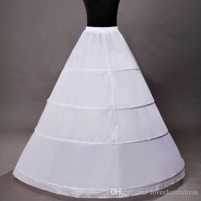 bb5cd28bb6fa6 Hot Sale 4 Hoop Ball Gown Bridal Petticoat Bone Full Crionline Wedding  Skirt Slip New