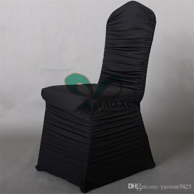 Rulled Pleated Lycra Spandex Chair Cover FreeShipping