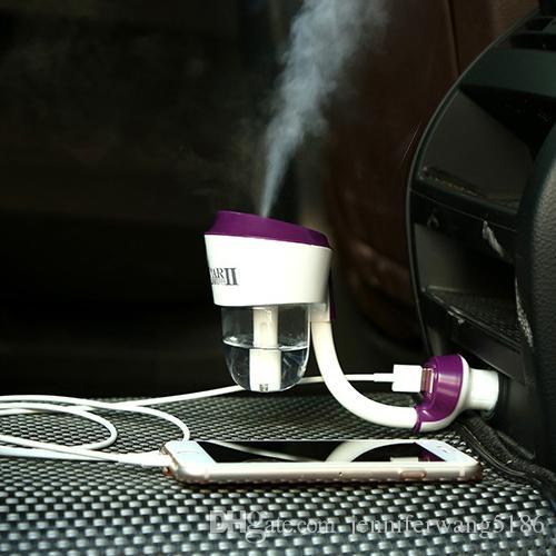 2017 New Upgraded 2th Generation Humidificateur De Voiture Air Cleaning Mist Diffuseur Purificateur Bouteille D'eau Humidificateur À Vapeur avec DHL Livraison Gratuite