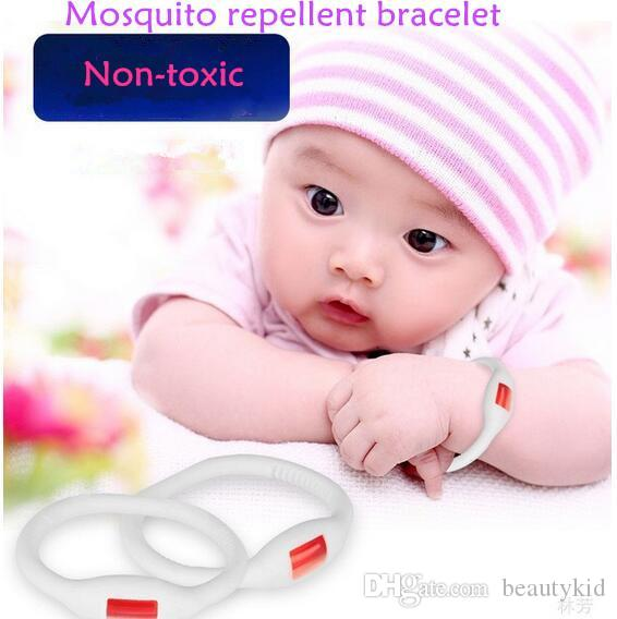 ni/ños-Rojo-1 Tama/ño Mosquito Killer Anti-Mosquito Silicone Pulseras repelentes de mosquitos Anti-Mosquito Pulseras para adultos