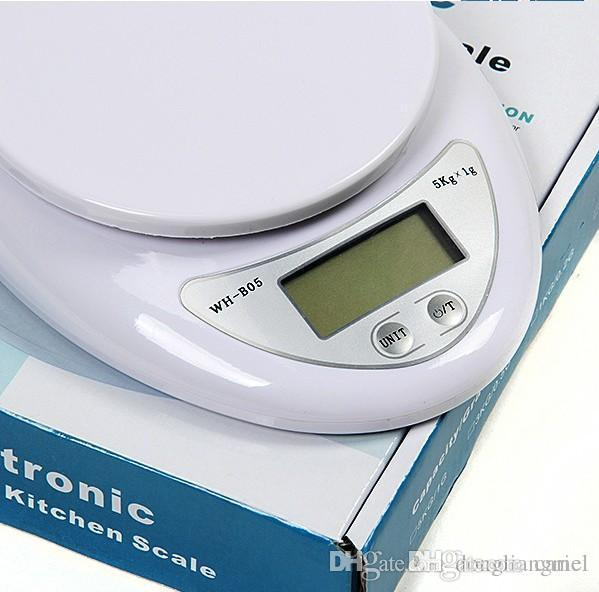 cariel New 5000g/1g 5kg Household Kitchen Scale Mini High Precision Measurement Digital Scales Balance Weight LED Electronic j103B