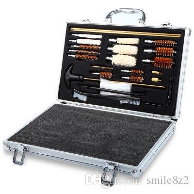 Universal Caza Pistola Rifle Pistola Pistola Escopeta Cleaner Kit de Limpieza de pistola práctica y dispone de caja de la caja de caza Accesorios + NB