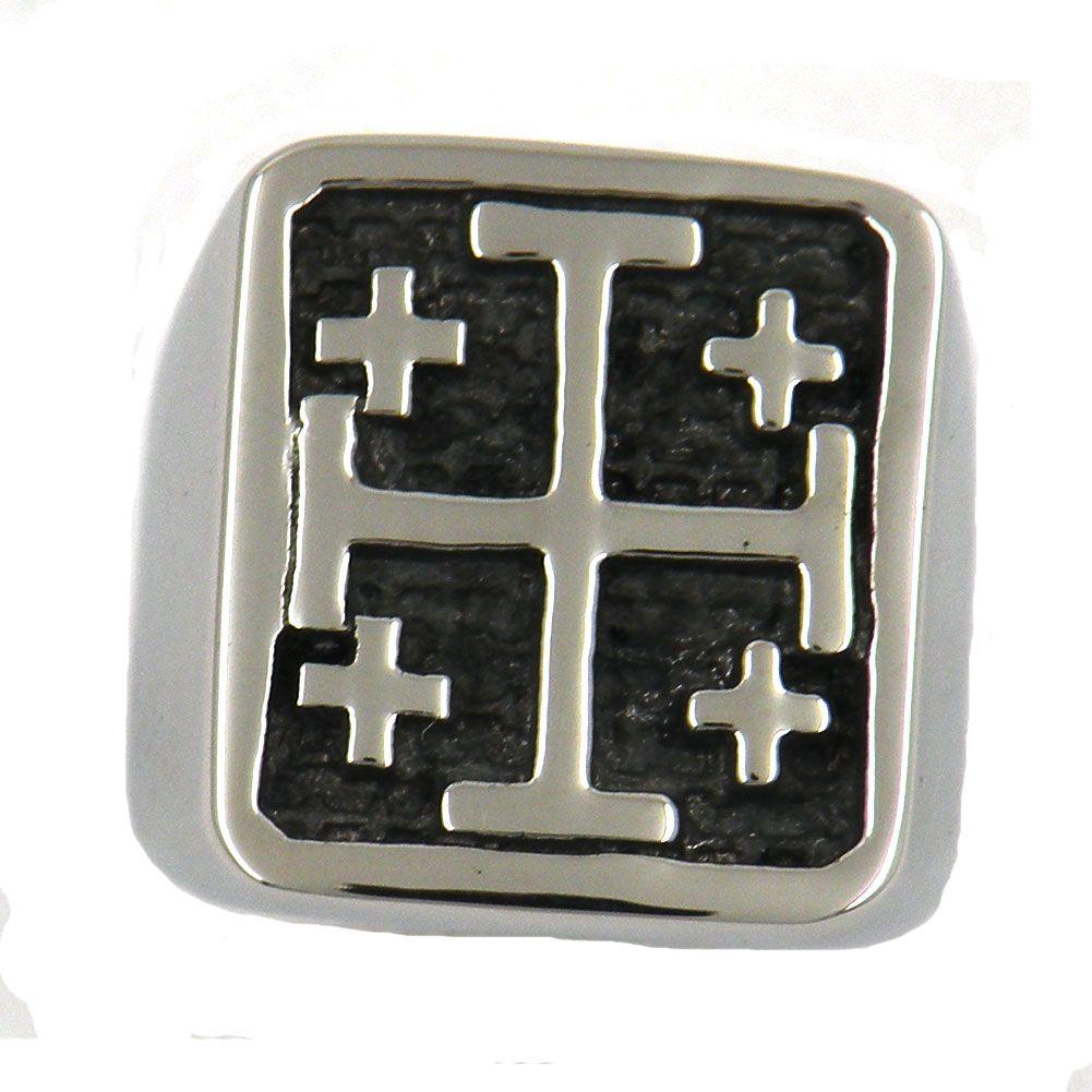 Custom made in acciaio inox o gioielli wren gioielli masonary JESUS CHRIST CROCIATI CAVALIERI TEMPLARI RELIGIOSI CROSS MASONIC RING 11W83
