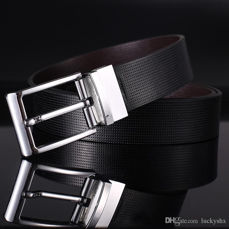 Ceinture en cuir de vachette pour hommes en cuir véritable boucle Rotation en cuir de haute qualité mens Business Casual Trousers Ceintures