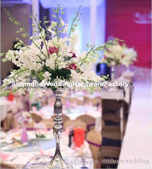 düğün masa centerpieces için çiçek kase ile zihinsel mumluk