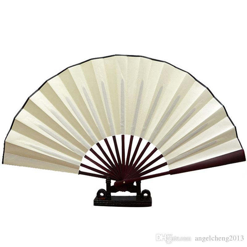 Ventaglio pieghevole tenuto in mano del panno nero cinese del tessuto per la prestazione di pratica Partite ballanti della palla unisex - due dimensioni (13 10 pollici) (3 colori scelgono