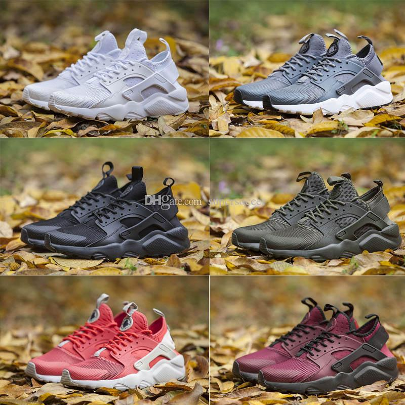 Alta Qualidade Huarache Correndo Tênis Homens Mulheres Sneakers Triple Huaraches Athletic Trainers Huraches Sapatos Esportivos