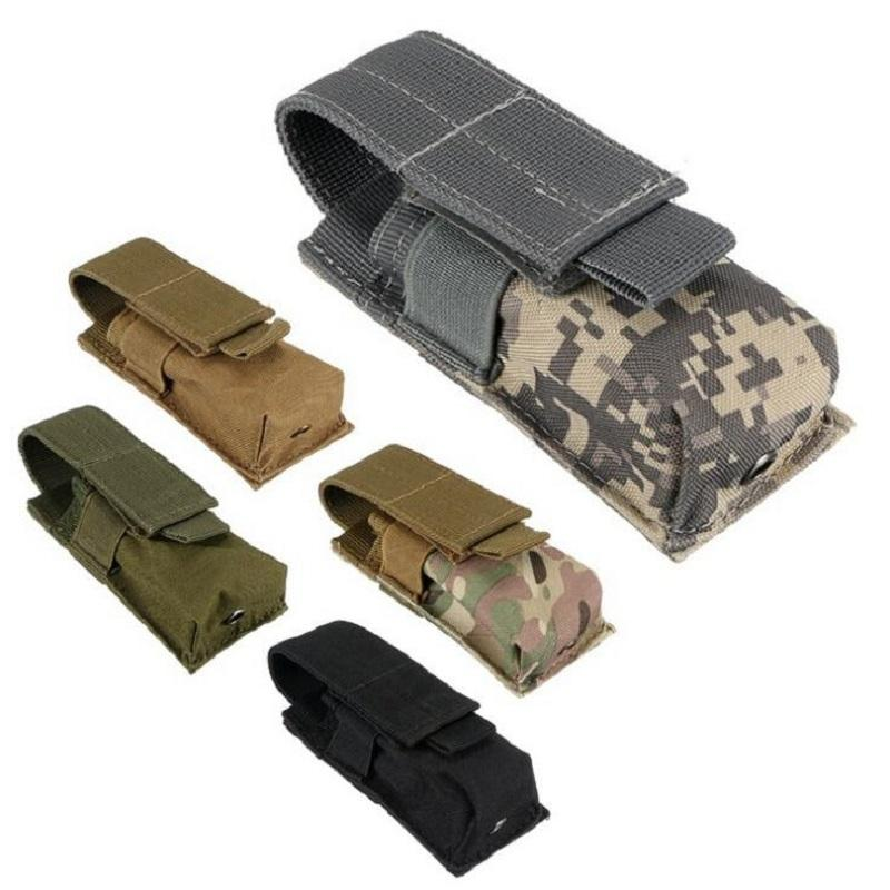 Wholesale Outdoor Tactical Flashlight Mini Bag Army Fans Molle Equipment Accessory Kit Single Magazine Mag Pouch Free Shipping