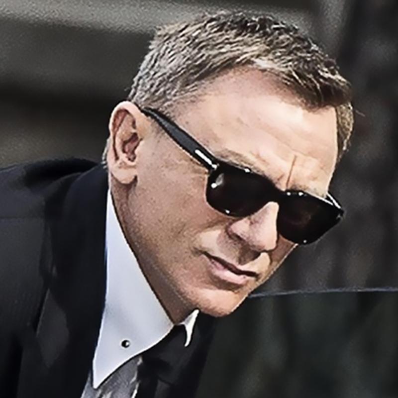 Gafas de sol al por mayor Bond Hombres TR90 Gafas de sol polarizadas de los hombres de la estrella estupenda de las gafas de sol de conducción Celebrity Square
