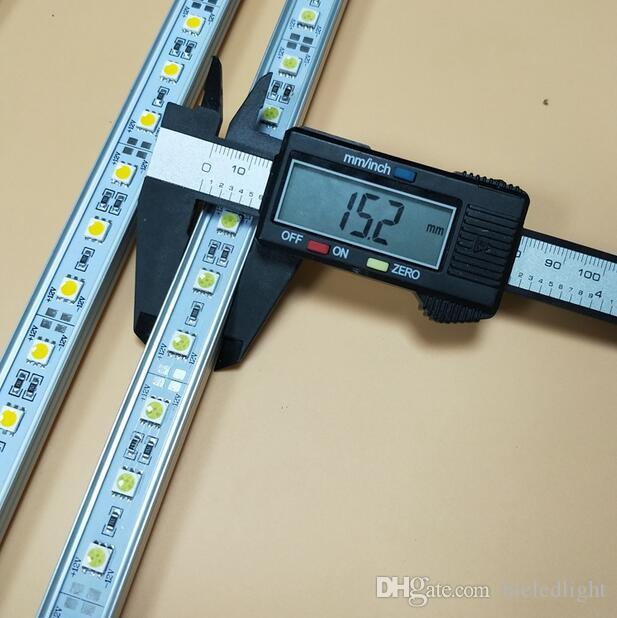 luz conduzida da tira rígida 8w 800LM 5050 SMD LED Bar Luz Branco / Branco Quente 36LEDS 50CM Gabinete de LED rígida Faixa de DC12V Showcase