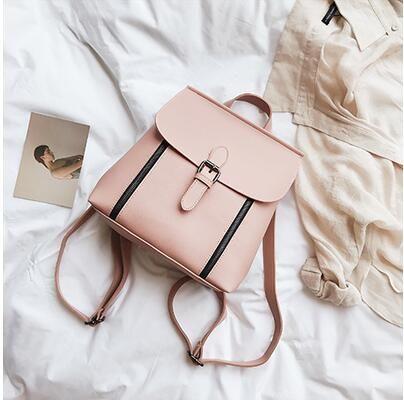Women PU Leather Backpack Bag Fashion Multipurpose Cross Shoulder Travel Handbag