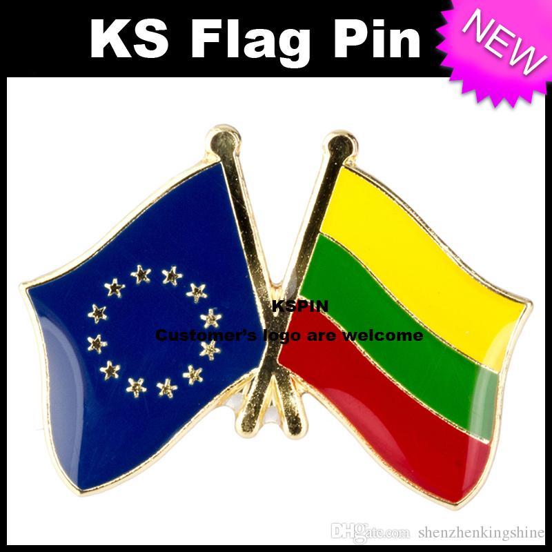 Distintivo 10pcs della bandiera della bandierina della Lituania dell'Unione Europea molto trasporto libero XY0074-6