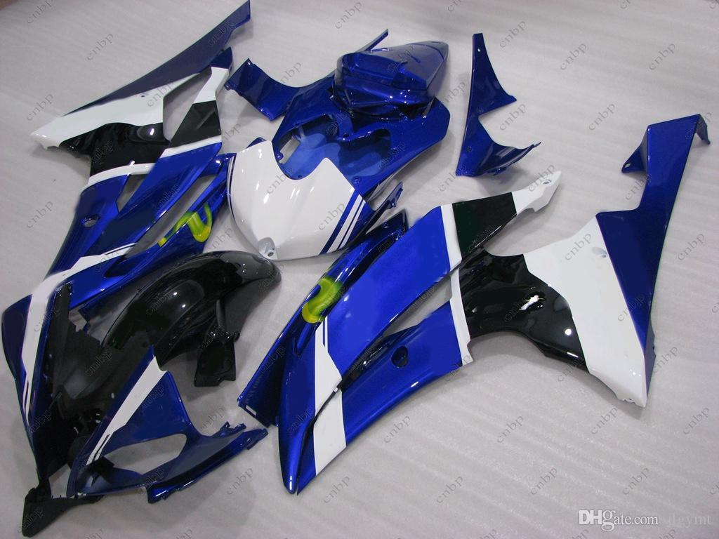 YAMAHA YZFR6 için ABS Fairing YZF600 R6 2013 Vücut Kitleri 2009 MOVISTAR Plastik Fairings için Mavi Siyah Beyaz YZFR6 10 11 2008 - 2015