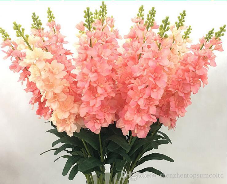 Orquídeas de seda para decoração, Tecido de artesanato traça-orquídea, Exibição de evento de festa de casamento, Orquídea artificial