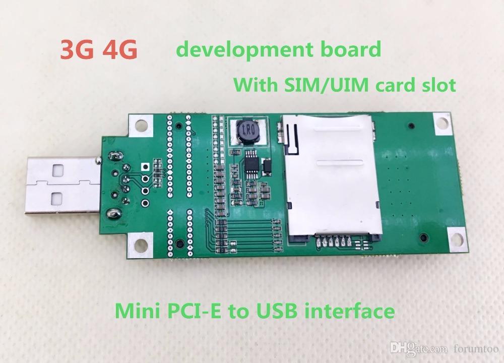 PCIE MINI USB 3G 4G modülüne Dönüştürülmüş Özel geliştirme kurulu Ile SIM / UIM kart yuvası freeshipping