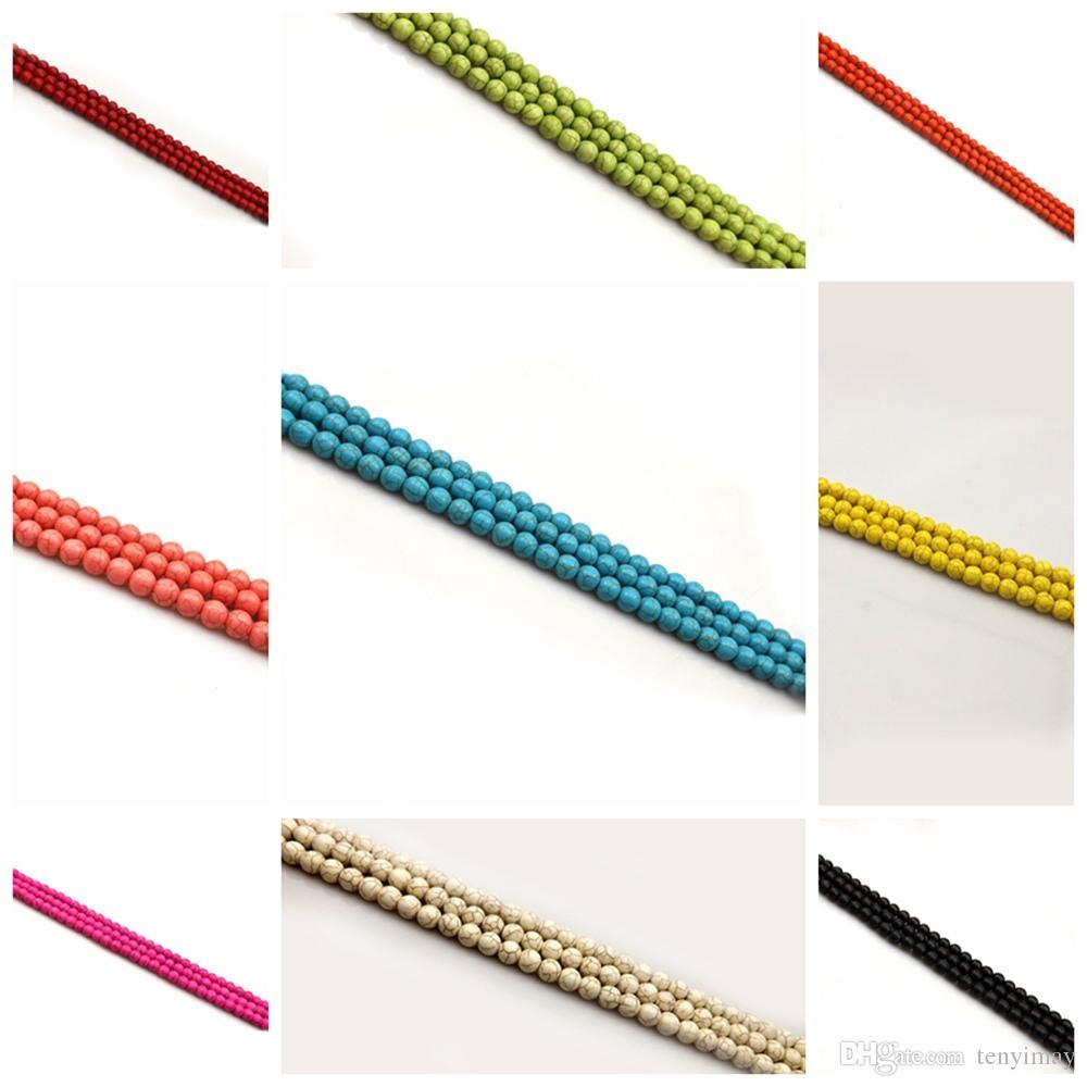 6mm Turquoise perles en vrac pour la fabrication de bijoux DIY 11 couleurs différentes pour choisir la Pack de 400pcs