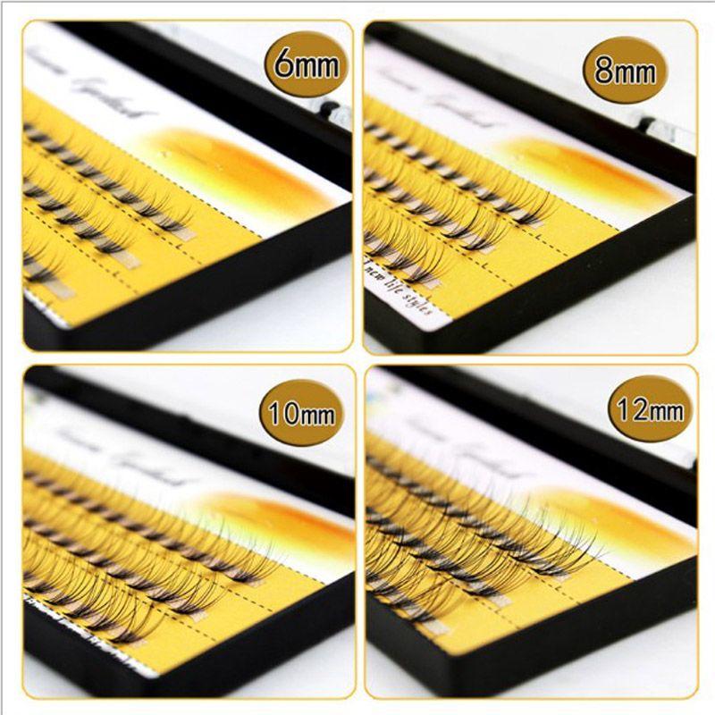 Natural C Curl 0.07mm 6-14mm Black Individual False Eyelashes Silk Eyelash Extension Design thick 10 Flares can be mixed order