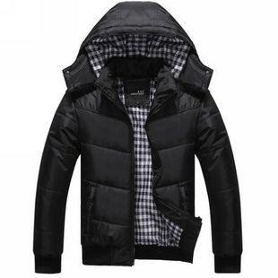 Wholesale- winter 2017 men cotton padded jacket thick hooded jacket Men winter outerwear wadded Waterproof warm duck down & Parkas A1884
