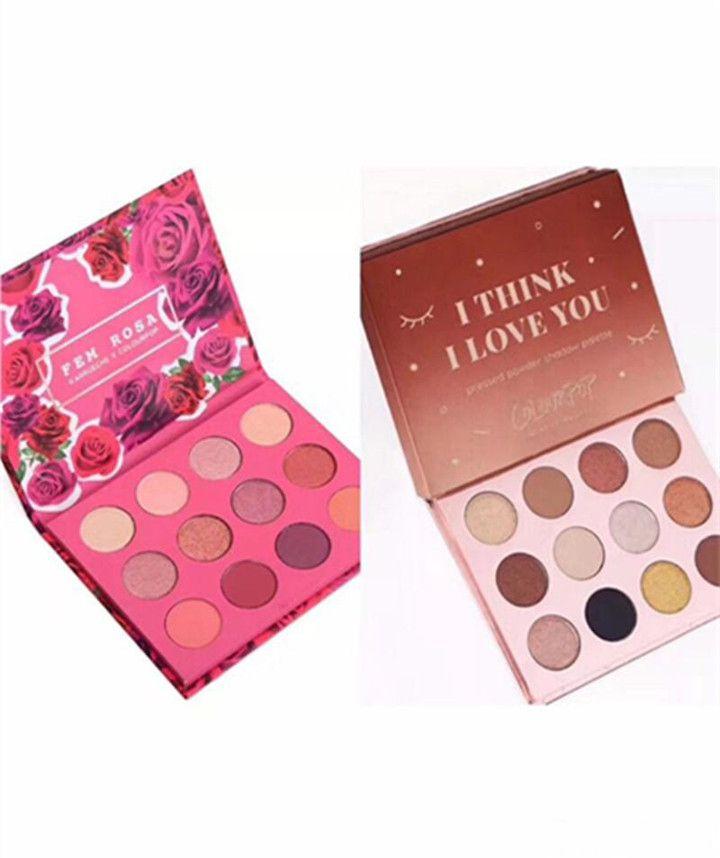 Colourpop Cosmetics X Karrueche Karrueche Fem Rosa هي أعتقد ، أنا أحبك ، بودرة ظلال عيون مضغوطة ، 12 لون