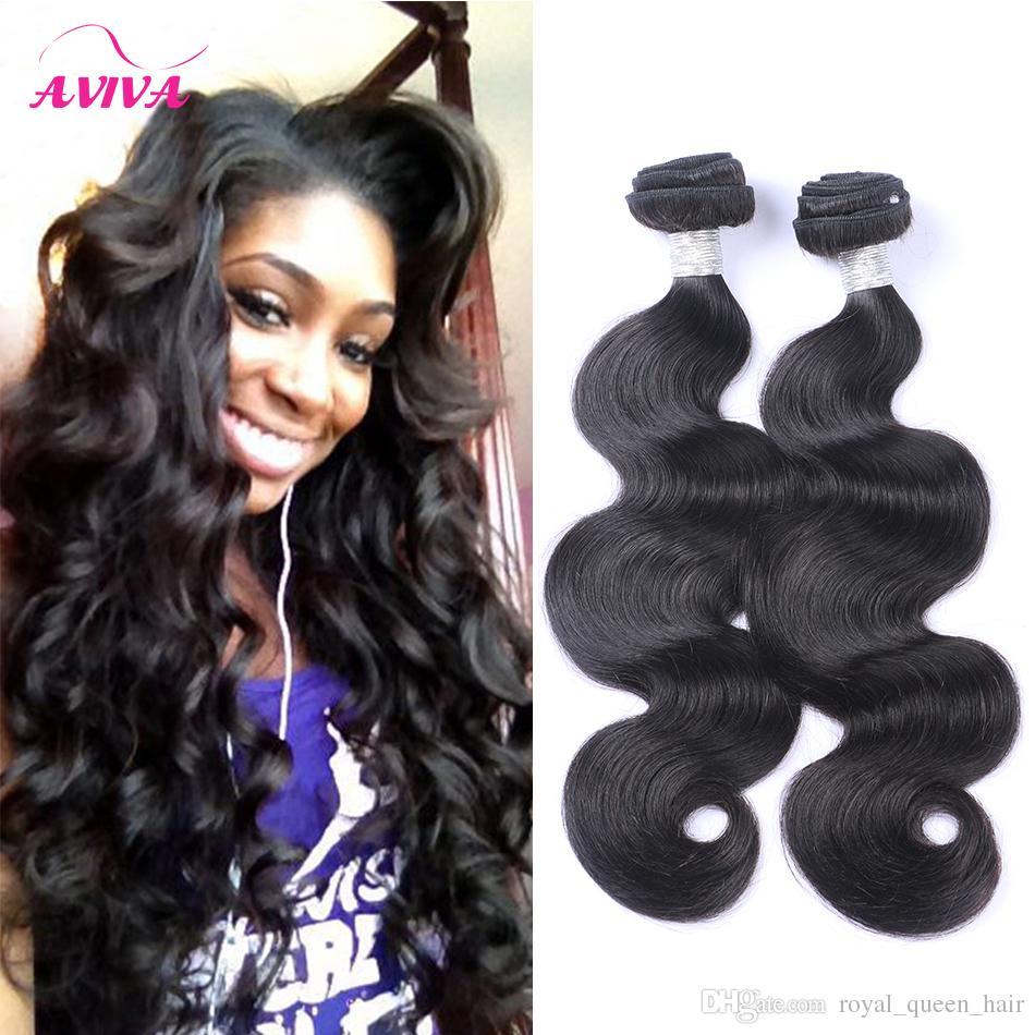 Brazilian Virgin Human Hair Weave 3/4/5 Bundles Body Wave Unprocessed Peruvian Malaysian Indian Cambodian Remy Hair Extensions Natural Black