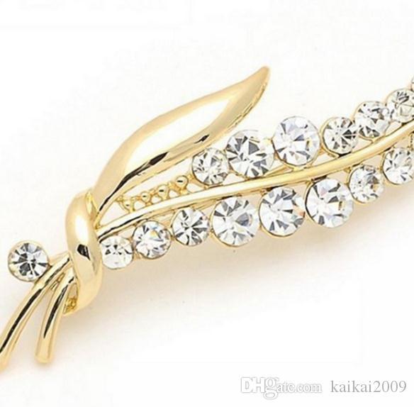 Europa und die Vereinigten Staaten heißer Verkauf eingelegt mit Diamantblatt-Formbrosche