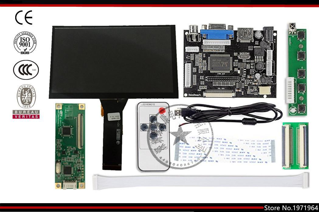 7 pollici Raspberry Pi Display LCD Monitor TFT con touch screen capacitivo Kit Scheda driver VGA input HDMI Spedizione gratuita