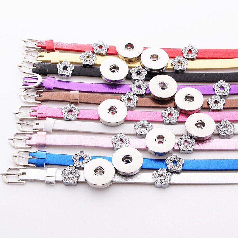 braccialetti del polsino di stile di noosa dei polsini dello zenzero di cuoio delle donne di modo assorted 18mm di modo
