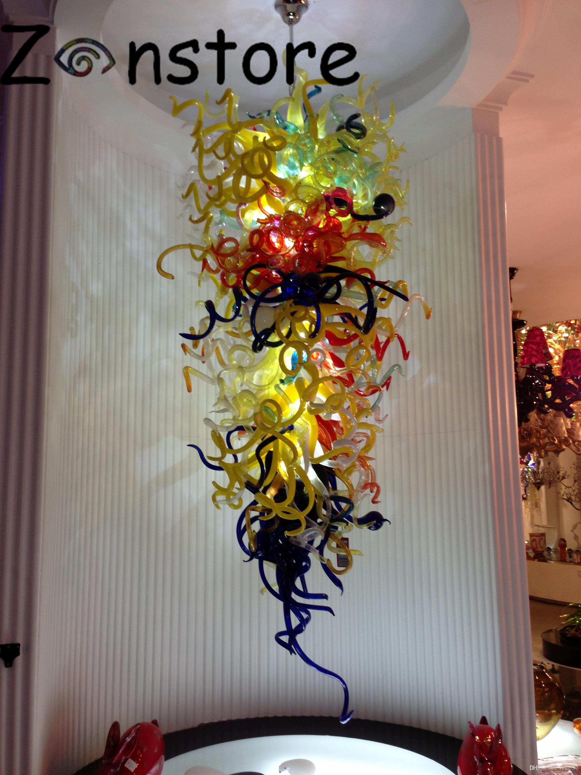 Twisted Art Glass Chandelier Wholesale Hotel Modern Hand