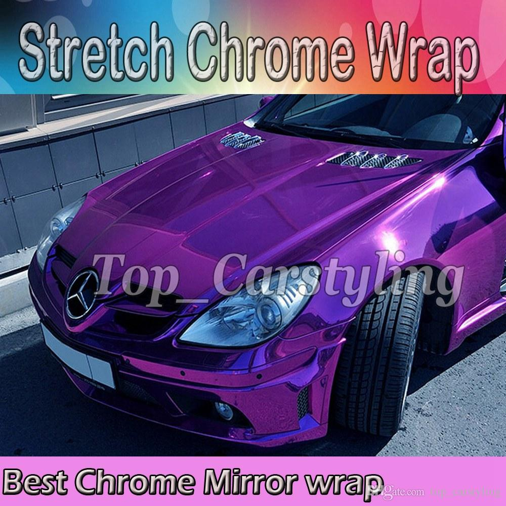 "Silver Chrome Mirror Vinyl Wrap Film Roll Sheet Air Bubble Free 12/"" x 60/"" In"