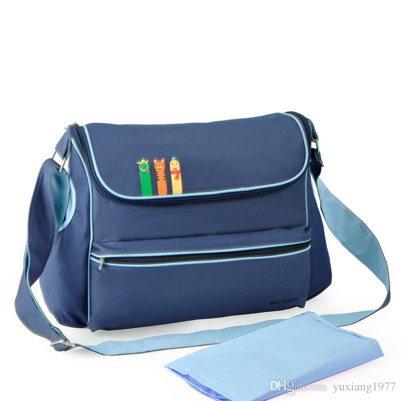 Venta al por mayor insular envío libre moda bebé pañales bolsas de nylon multifuncional Mami Bag
