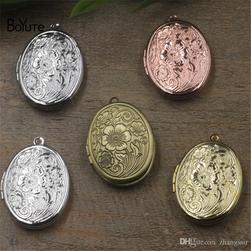 BoYuTe New Product 10Pcs 23*29MM Oval Photo Floating Locket Pendant Wholesale Brass Material Vintage Jewelry Pendant