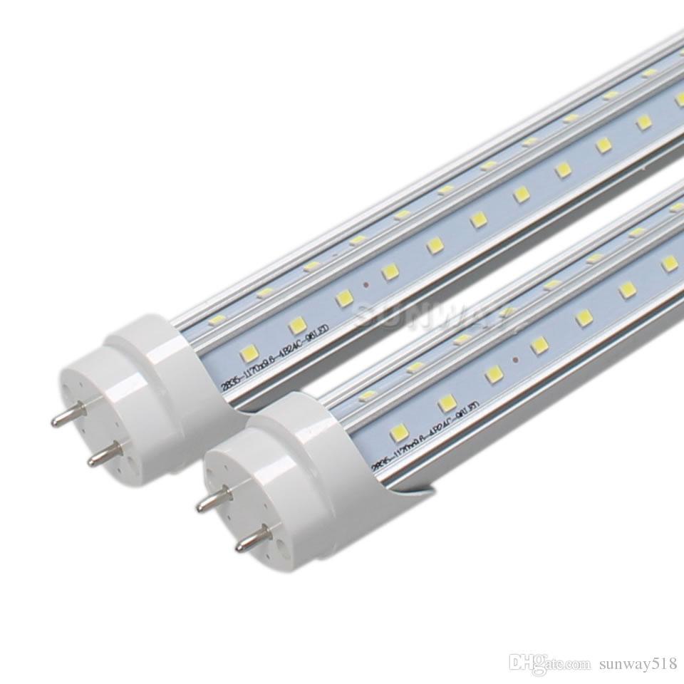 25pcs / lot 05/04 / 6 / 8ft ETL LED Tüp 24W 30W 40W 48W SMD2835tube lamba ışık AC85-265V 5 yıl garanti led aydınlatma listelenen