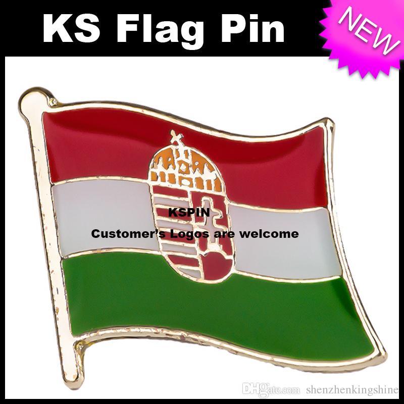 Distintivo 10pcs della bandiera del distintivo della bandiera dell'Ungheria molto trasporto libero KS-0195