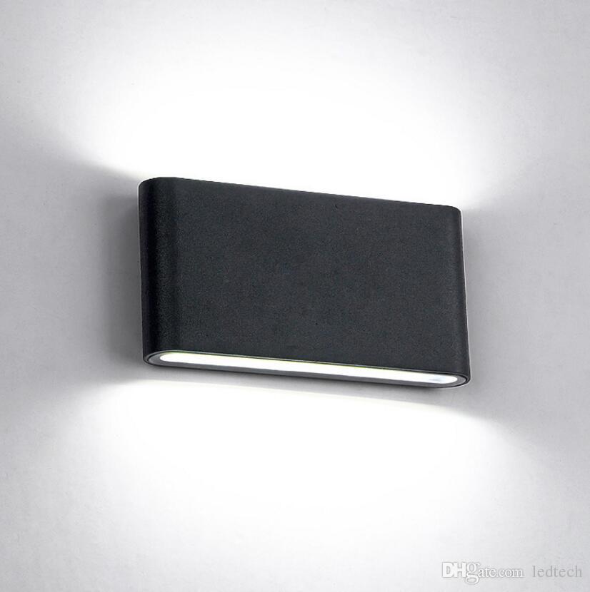 6W 12W COB cube IP65 surface réglable monté lightig LED extérieure, LED applique murale intérieure, jusqu'à la lampe de mur de LED vers le bas