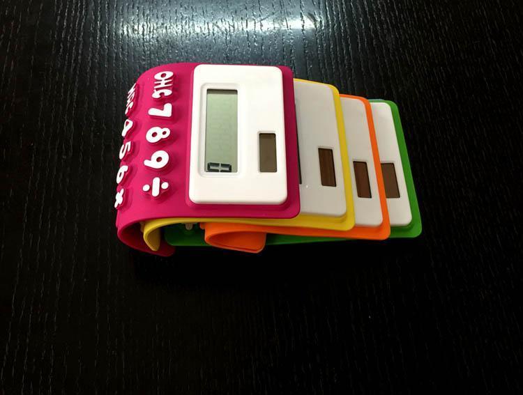 Zachte Silicone Solar Calculator Draagbare kleur Mini Computer Toetsenbord Student