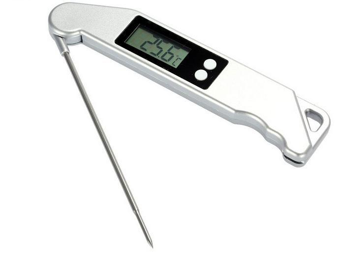 Thermomètre à barbecue Thermomètre électronique à barbecue pliant Le thermomètre à aliments de cuisine