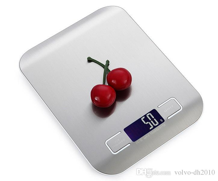 Acero inoxidable Digital balanza de cocina, escala del alimento multifunción manchas NO BATERÍA LLFA