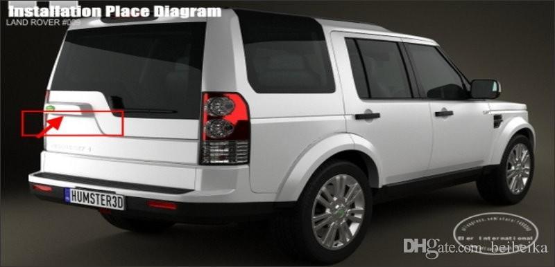 Câmera reversa Para Land Rover LR4 Descoberta Defender 2014 ~ 2016 Luz Da Placa de Licença OEM / HD CCD Night Vision / Câmera Traseira Do Carro