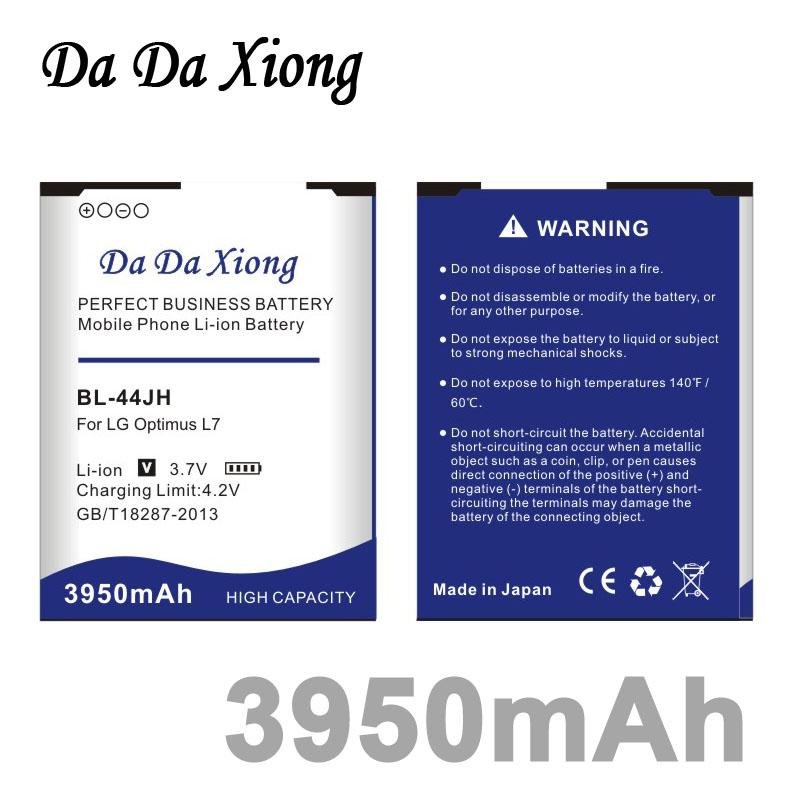 Da Da Xiong 3950mAh BL-44JH Batterie für LG Optimus L4 II E440 Optimus L5 II E460 Optimus L5 II E455 MS770 L7 P700 P705