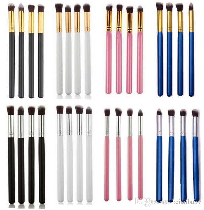 4 ШТ. Профессиональные кисти для макияжа Порошок Фонда для порошковых ресниц Blusher Brush Cosmetic Tool Pincel Maquiagem Лицо Макияж кисти