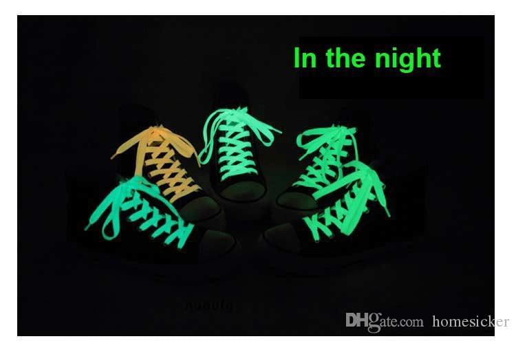 Lueur de lacet lumineux lueur casual led chaussures Strings Athletic Party Camping lacets pour la croissance des chaussures de toile
