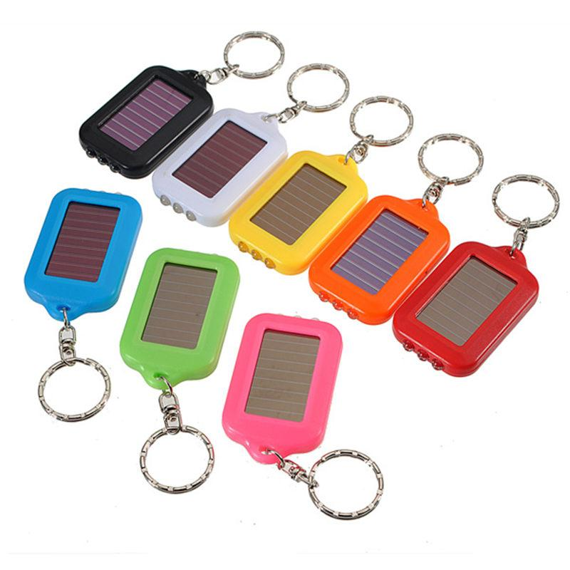 Mini Pink LED FLASHLIGHT KEY CHAIN Ring Keychain NEW