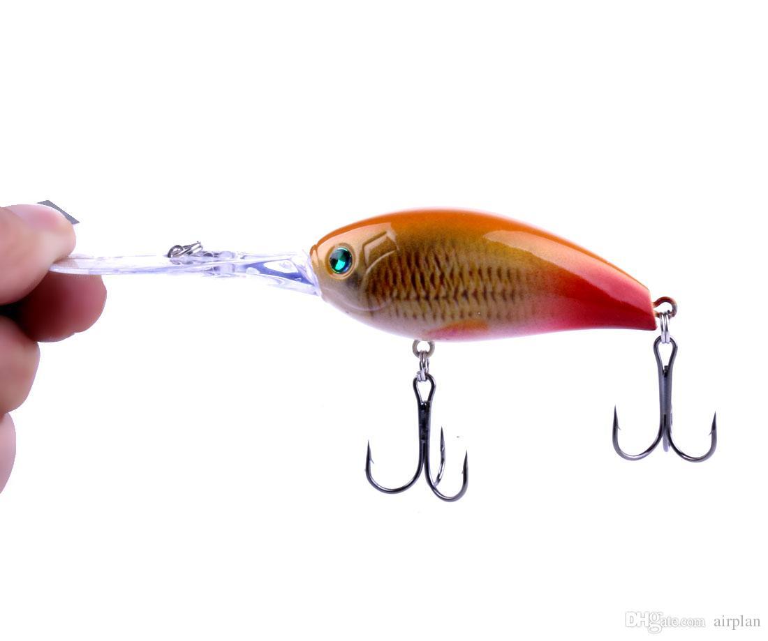 1pcs of Rock long tongue swimming lure hard artificial crankbait bionic plastic fishing lures tackle pesca hooks