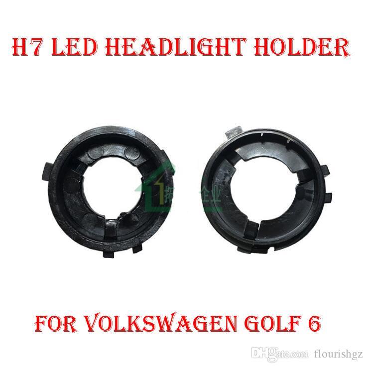LED H7 adaptateur Socles de retenue de clip de phare H7 Kit LED Plug Adaptateurs de support de base de lampe phares pour Phare de voiture