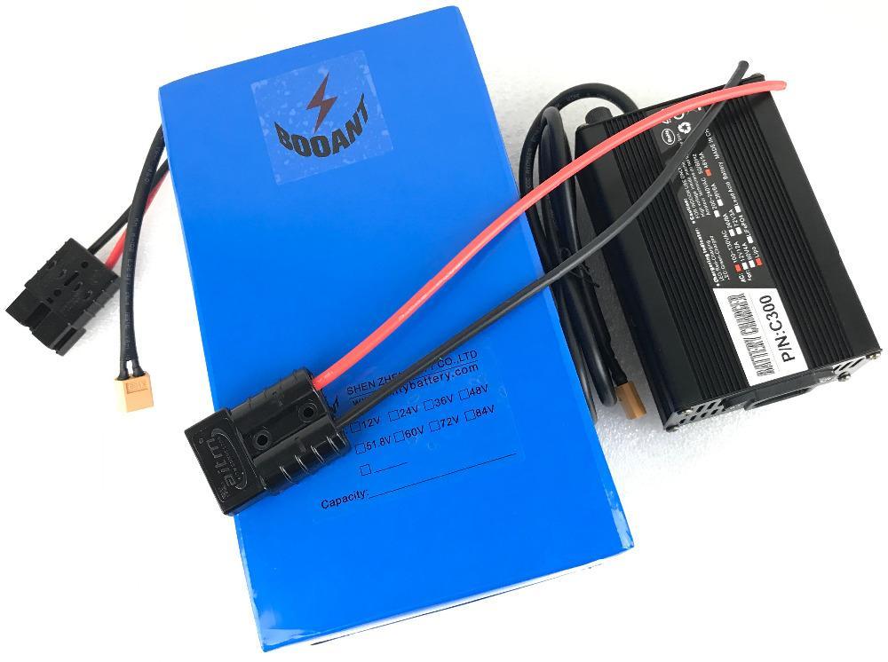 Booant 84V 32AH 3000W Wysokiej jakości bateria LI-Ion 23S 10P 10P Battery Pack EU US Customs Free z ładowarką 5a 96.6 V