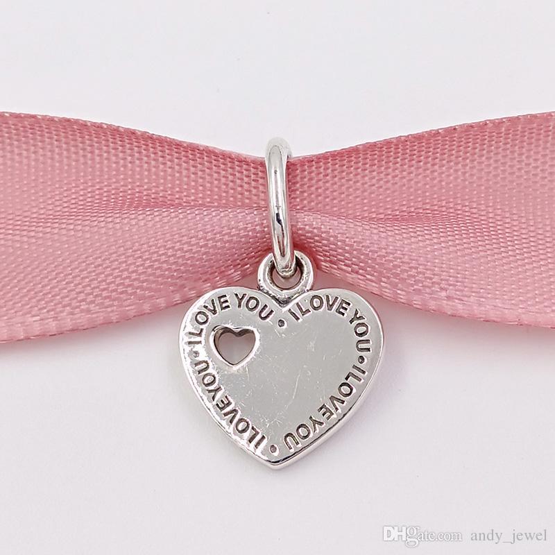 Regalo di San Valentino 925 perline d'argento insieme per sempre il ciondolo fascino si adatta ai braccialetti di gioielli in stile Pandora europeo collana 791430 tu ed io