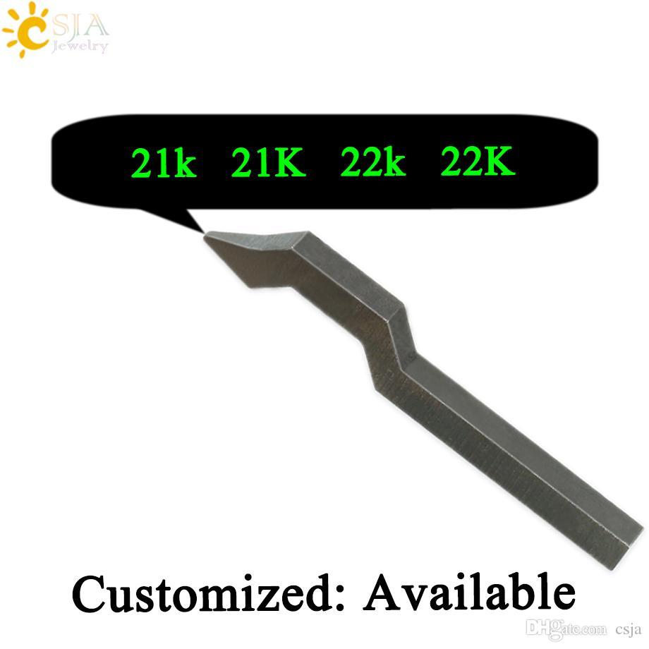 CSJA 21k 21K 22k 22K Customizable Logo Metal Steel Punch Gold Silver Ring Bracelet Buckle Jewelry Making Tool Jewellery Mark Stamp Mold E236